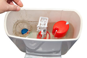 adjust the water level in your toilet tank to increase the flush power